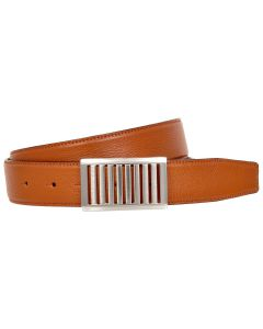 OHM New York Latticed Buckle Leather Handmade Reversible Belts