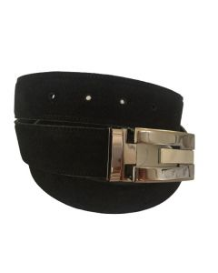 OHM New York Suede Leather Casual Belts Black