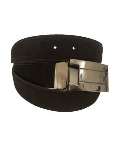 OHM New York Suede Leather Casual Belts Brown