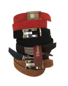 OHM New York Suede Leather Casual Pack of 5 Belts
