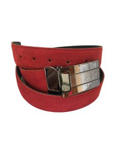 OHM New York Suede Leather Casual Belts Red