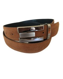 OHM New York Suede Leather Casual Belts Tan