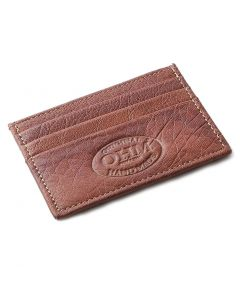 OHM New York Leather Card Case in Cognac