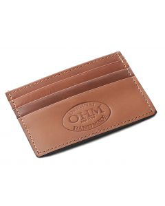 OHM New York Leather Card Case in Tan/Black
