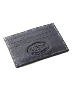 OHM New York Leather Card Case in Blue Vintage