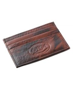 OHM New York Leather Card Case in Tiger Print