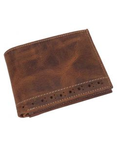 OHM New York Leather Stitched Wallet