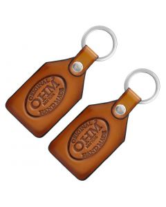 OHM New York Pack of Two Leather Key Chains