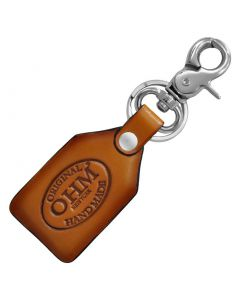 OHM New York Leather Key Chains in Cognac with Metal Hook