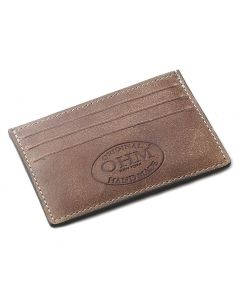 OHM New York Leather Card Case in Vintage