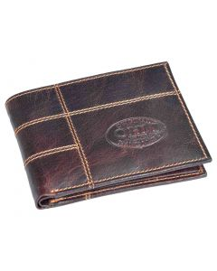 OHM New York Chili Leather Wallet with Zipped Coin Holder