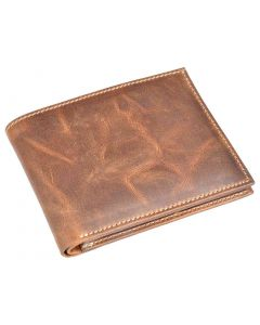 OHM Leather New York Natural Grain Bill Fold