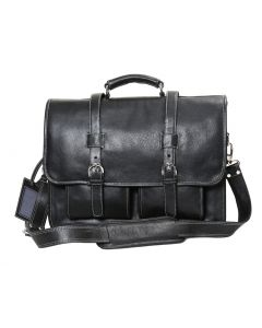 OHM Leather New York Business Briefcase in Black Color