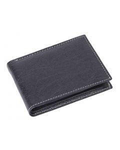 OHM Leather New York Wallet in Black/ Tan