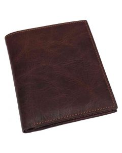 OHM New York Note Pad Leather Wallet with ID Window
