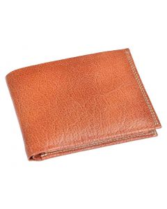 OHM New York Natural Grain Bill Fold Leather Wallet