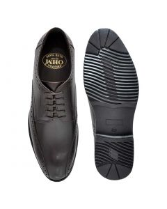 OHM New York Perforated Vamp Brogue Leather Shoes