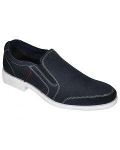 OHM New York American Lifestyle Vamp Stitched Leather Slip-on Shoes