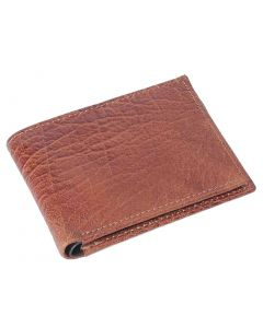 OHM New York Bill Fold Leather Wallet in Cognac and Black