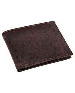 OHM New York Bill Fold Leather Wallet in Oxblood