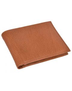 OHM New York Bill Fold Leather Wallet in Tan Color