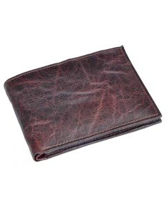 OHM New York Bill Fold Wallet in Grained Wax Leather