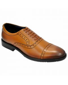 OHM New York Cap Toe Oxford Sports Leather Shoes