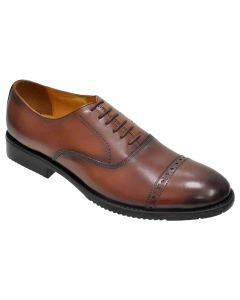 OHM New York Cap Toe Oxford Leather Shoes