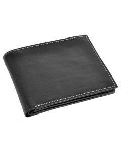 OHM New York Classic Leather Wallet with ID Window