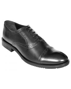 OHM New York Double Brogue Oxford Leather Shoes
