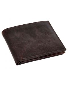 OHM New York Double Stitched Leather Wallet with ID Window