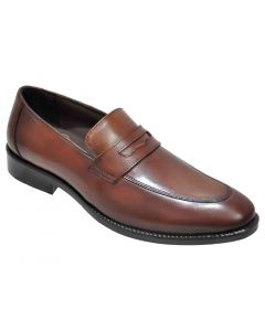OHM New York Double Stitched Penny Loafer Leather Shoes