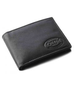 OHM New York Leather Bill Fold Wallet with Coin Holder