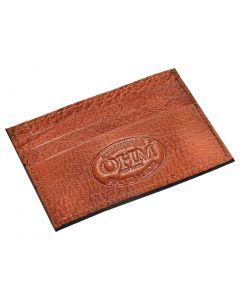 OHM New York Leather Card Case in Cognac/Black Color
