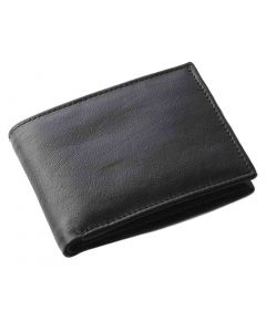 OHM New York Leather Coin Holder Wallet with ID Window