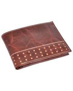 OHM New York Leather Wallet with Broguing