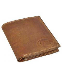 OHM New York Natural Leather Square Shape Note pad Wallet