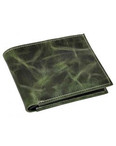 OHM New York Sea Green Premium Bill Fold Leather Wallet