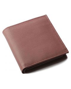 OHM New York Square Shape Leather Wallet in Tan