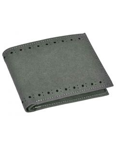 OHM New York Suede Slim Perimeter Stitched Wallet in Irish Green Color