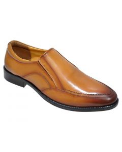 OHM New York Vamp Stitched Dress Leather Slip-on Shoes