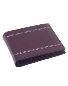 OHM New York Classic Stitched Dress Leather Wallet
